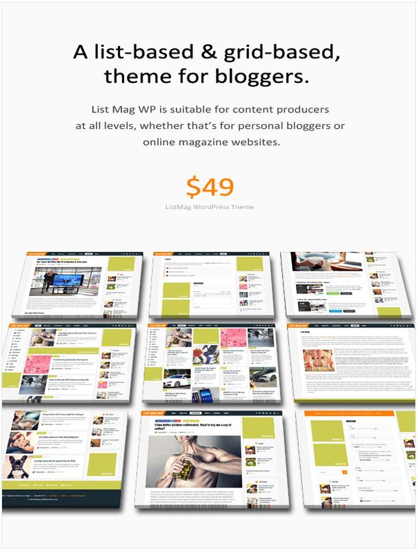 List Mag新闻列表类响应式WordPress博客主题