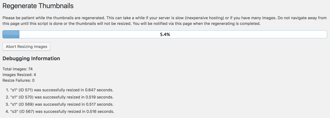 WordPress重新生成缩略图插件:Regenerate Thumbnails