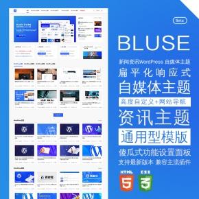极致视觉体验的WordPress资讯主题Blues主题模板